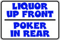 Wall Decals and Stickers –  liquor up front poker in rear