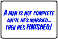 Wall Decals and Stickers –  a man is not complete