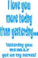 Wall Decals and Stickers –  i love you more today