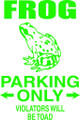 Wall Decals and Stickers – frog parking