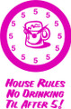 Wall Decals and Stickers –  house rules