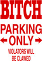 Wall Decals and Stickers – bitch parking