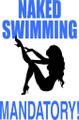 Wall Decals and Stickers –  naked swimmers