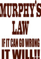 Wall Decals and Stickers –murphy's law