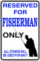 Wall Decals and Stickers – reserved for fisherman  parking only