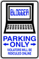 Wall Decals and Stickers  –  blogger  parking only
