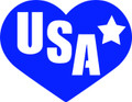 Wall Decals and Stickers –  Usa  And Heart