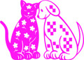 Wall Decals and Stickers – Cute Cat And Dog