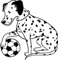 Wall Decals and Stickers – Dalmatian And A Soccer Ball