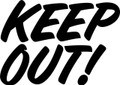 Wall Decals and Stickers – Keep Out