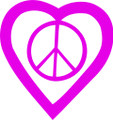 Wall Decals and Stickers –  Heart And Peace Sign