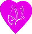 Wall Decals and Stickers –  Heart And Butterfly Design