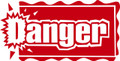 Wall Decals and Stickers – Danger     Design
