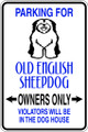 Wall Decals and Stickers - Old English Sheepdog