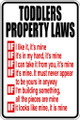 Wall Decals and Stickers - Toddlers Property Laws