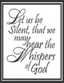 Wall Decals and Stickers - Let us be silent, that we may..
