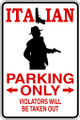 Wall Decals and Stickers - Italian Parking