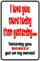 Wall Decals and Stickers - I Love You More Today