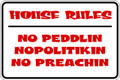 Wall Decals and Stickers - 3 House Rules