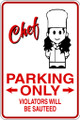 Wall Decals and Stickers - Chef Parking