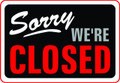 Wall Decals and Stickers - Sorry we're Closed Black