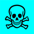 Wall Decals and Stickers - Poison Sign Blue
