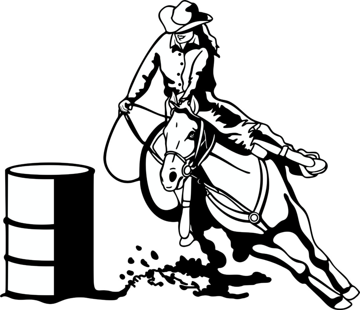 Barrel Racing Car Window Decals