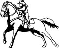 Wall Decals and Stickers - Horse Back Riding