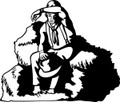 Wall Decals and Stickers - Cowboy Resting