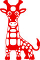 Wall Decals and Stickers - Red Giraffe
