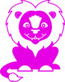 Wall Decals and Stickers - Pink Lion