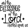 Wall Decals and Stickers - And The Blessings