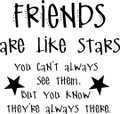 Wall Decals and Stickers - Friends Are Like Stars
