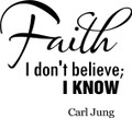 Wall Decals and Stickers - Faith I Don't Believe