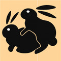 Wall Decals and Stickers - Two rabbits humping