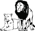 Wall Decals and Stickers - Lion And Tiger Animals