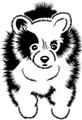 Wall Decals and Stickers - Cute Dog Face Design