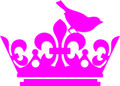 Wall Decals and Stickers - Crown With Lovely Bird