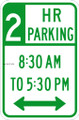 Wall Decals and Stickers - 2 hour parking