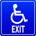 Wall Decals and Stickers - Disabled Exit