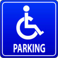 Wall Decals and Stickers - Disabled's Parking