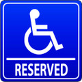 Wall Decals and Stickers - Reserved for Disabled