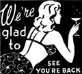 We're Glad To See You're Back Decal  -  Friends  -  Wall Decals & Stickers