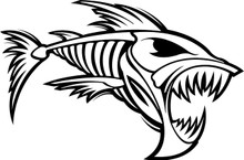 Scary Looking Fish - Wall Decals & Stickers