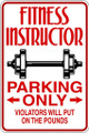 Fitness Instructor Picture Art  Home Decor Sticker  Vinyl Wall Decal  10x19