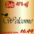 Welcome with a bird  Picture Art  Home Decor Sticker  Vinyl Wall Decal  7x21