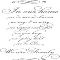 Wall Decals and Stickers - In our home we do second chances..