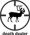 Death Dealer Deer Hunter Rifle Sight Scope Target Gaphic Animal Art - Home Decor Room Sticker - Vinyl Wall Decal - 24 Colors Available - BEST BUY 10x10