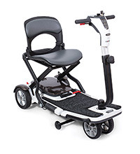 Ready for transport and easily folded, the 4-wheel Go-Go® Folding Scooter is perfect for the active lifestyle.