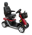The Pursuit® Sport 36 Volt Mobility Scooter offers the maneuverability of a 4-wheel mobility scooter along with high-performance features like 36 volts of power, full suspension and a hydraulic sealed brake system.